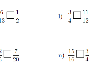 Comparing fractions worksheet no 3 (with solutions)