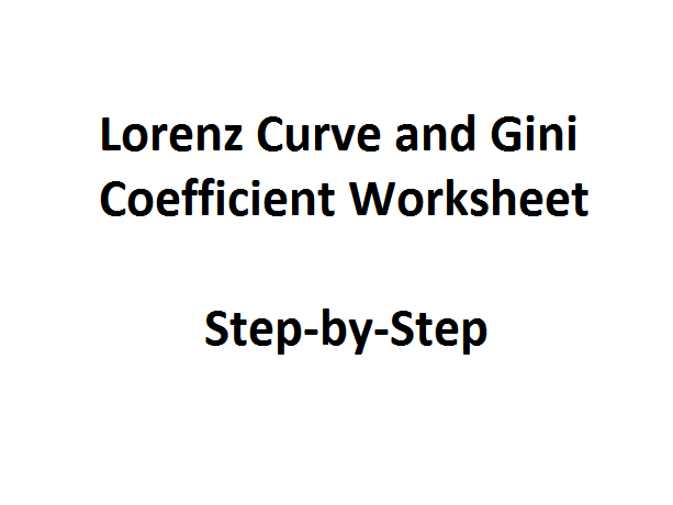 Gini Coefficient and Lorenz Curve Step-by-Step Worksheet