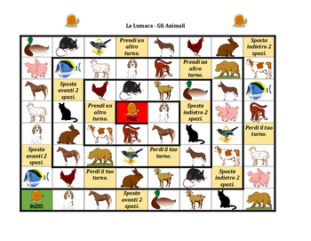 Animali (Animals in Italian) Lumaca Snail game
