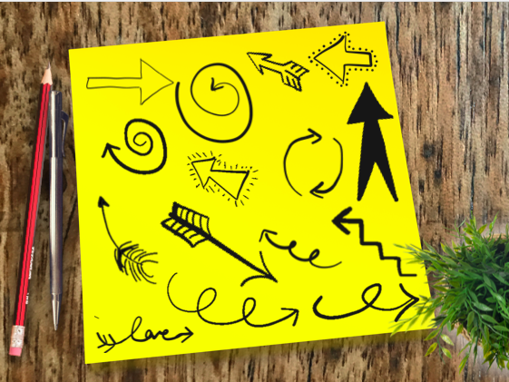 Black Arrow Doodles - Clipart