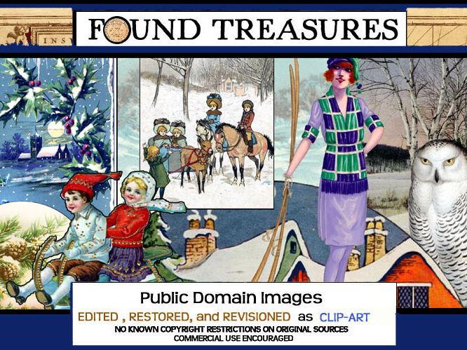 "Found Treasures ""Winter"" Vintage ClipArt"