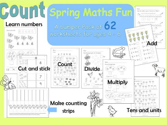 Spring Maths Workbook for Reception