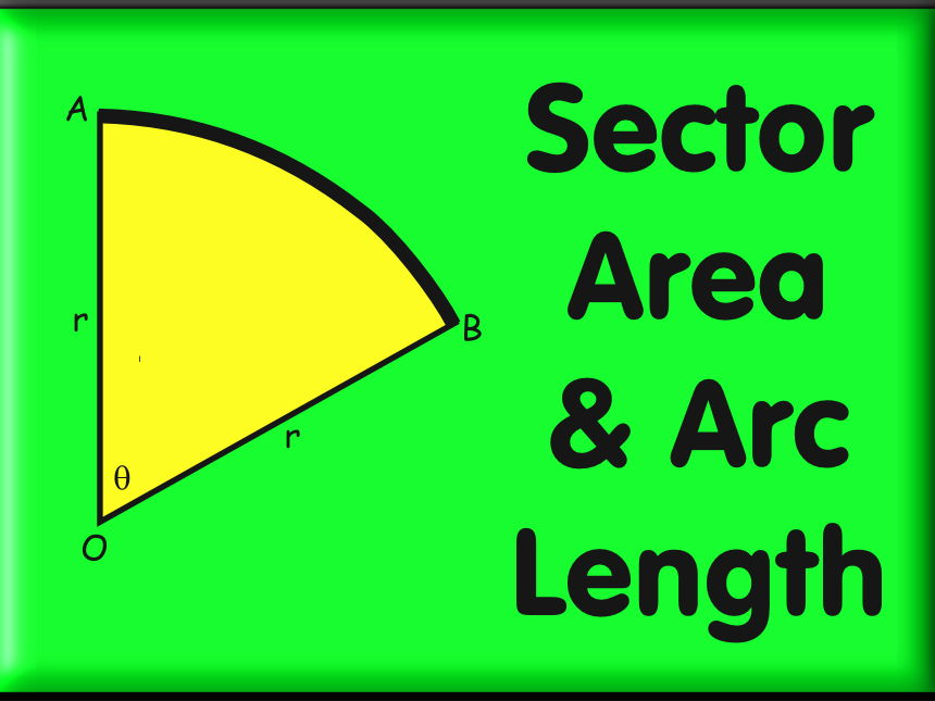Sector Area and Arc Length Worksheets - With Answers