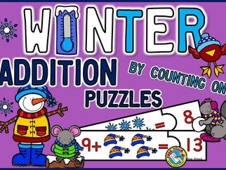 WINTER MATH: ADDITION CENTERS: WINTER ADDITION COUNTING ON STRATEGY