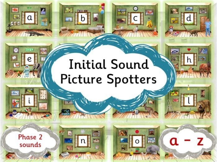 Initial Sound Picture Spotters - Phonics Sounds A-Z