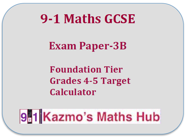 9-1 Maths GCSE Exam Paper -3B