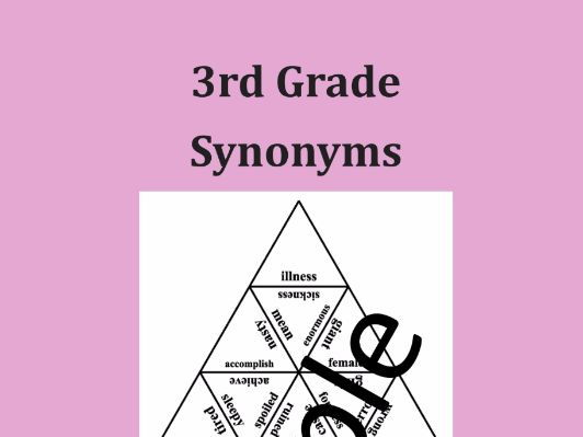 3rd Grade Synonyms - Puzzle