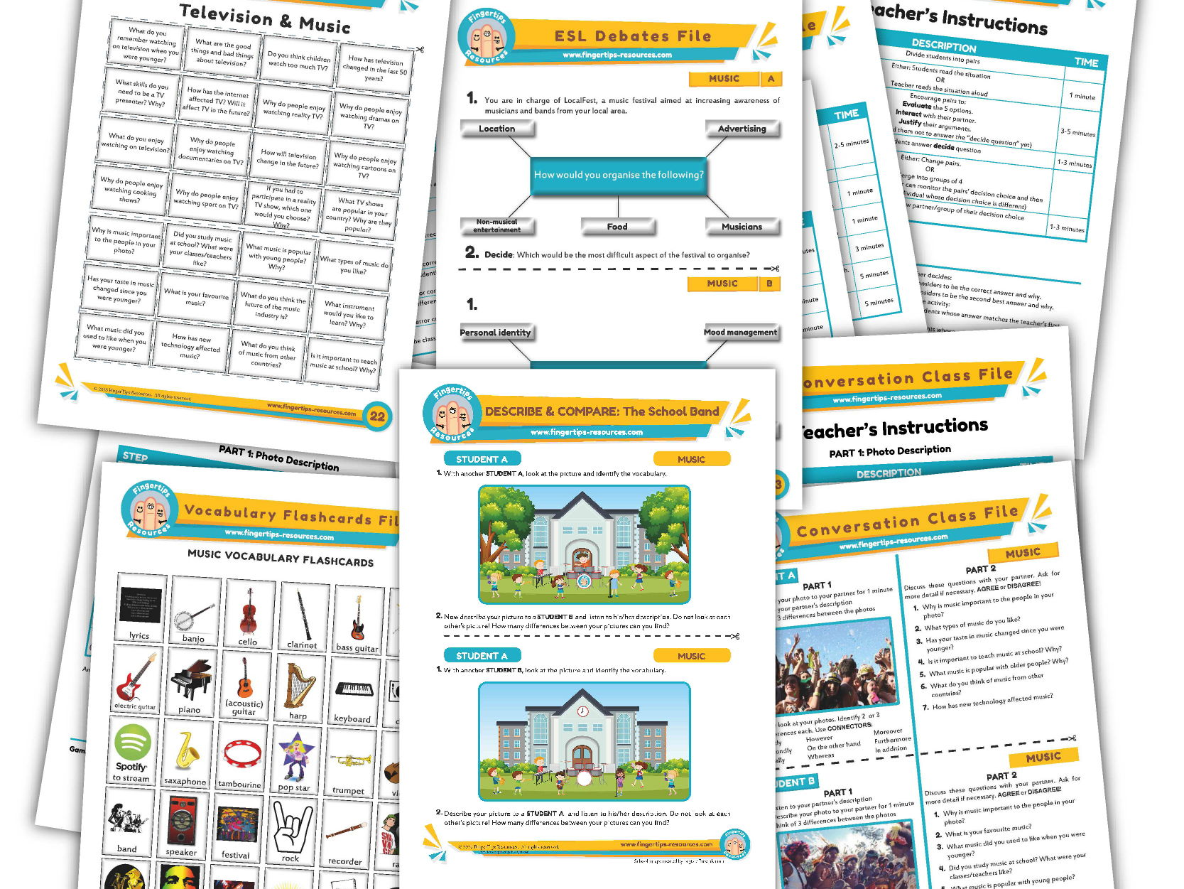 Music Unit - ESL Activity Bundle