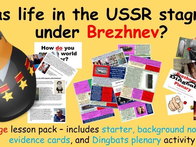 Brezhnev's USSR – 8-page lesson pack (starter PPT, notes, evidence sort, plenary PPT)