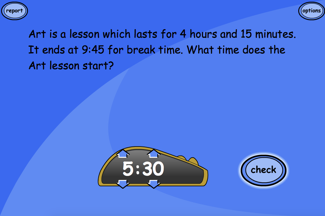 Time Problem Questions: Level 3 - Interactive Activity - KS1/KS2 Measurement