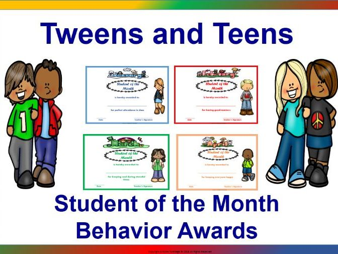 Editable Student of the  Month Behaviour Awards