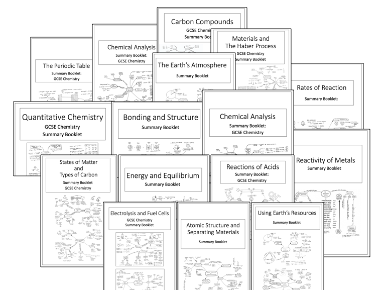 Knowledge Organisers/Summary Booklets: for ALL of AQA GCSE Chemistry