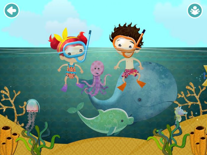 Under the Sea - Pairs/Matching Game - Mandarin with Pinyin
