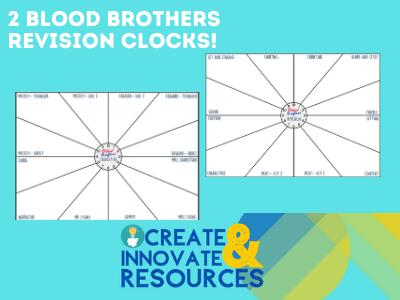 Blood Brothers  Revision Clock Bundle-GCSE Drama