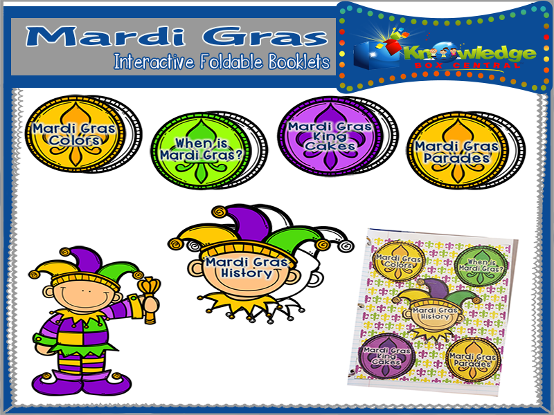 Mardi Gras Interactive Foldable Booklets