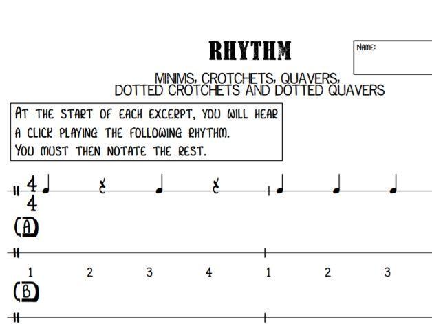 Music GCSE - Dotted Rhythm Dictation