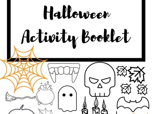 Halloween Themed Activity Puzzle Booklet Pack