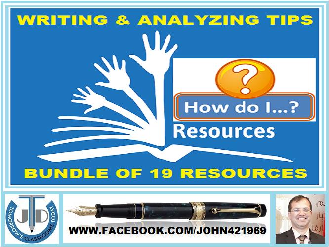 HOW DO I... WRITING & ANALYZING RESOURCES: BUNDLE