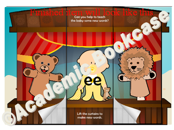 Puppet theatre word maker - Phase 3 'ee' words