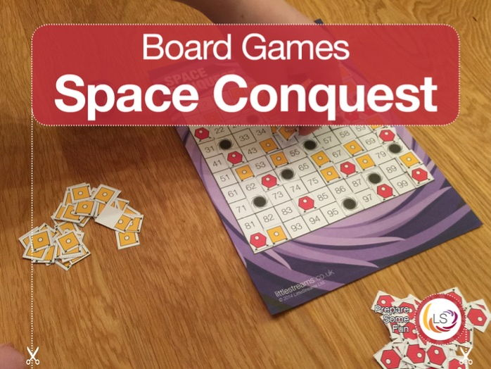 Space Conquest | Board Game for Times Tables, Multiples and Prime Numbers