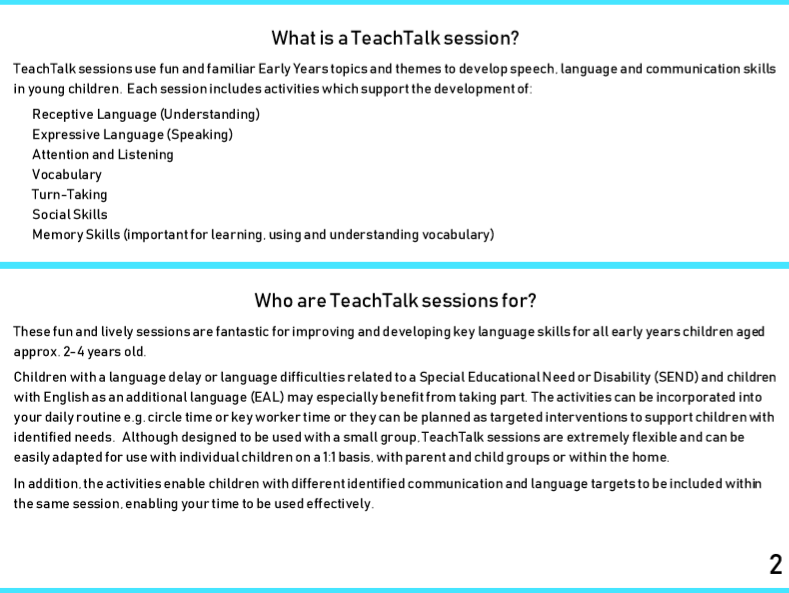 TEACHTALK EARLY YEARS FARM ANIMALS SPEECH AND LANGUAGE INTERACTIVE ACTIVITY PLANS
