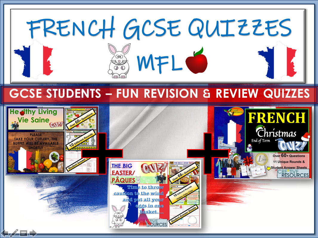 French GCSE - 3 x Quizzes