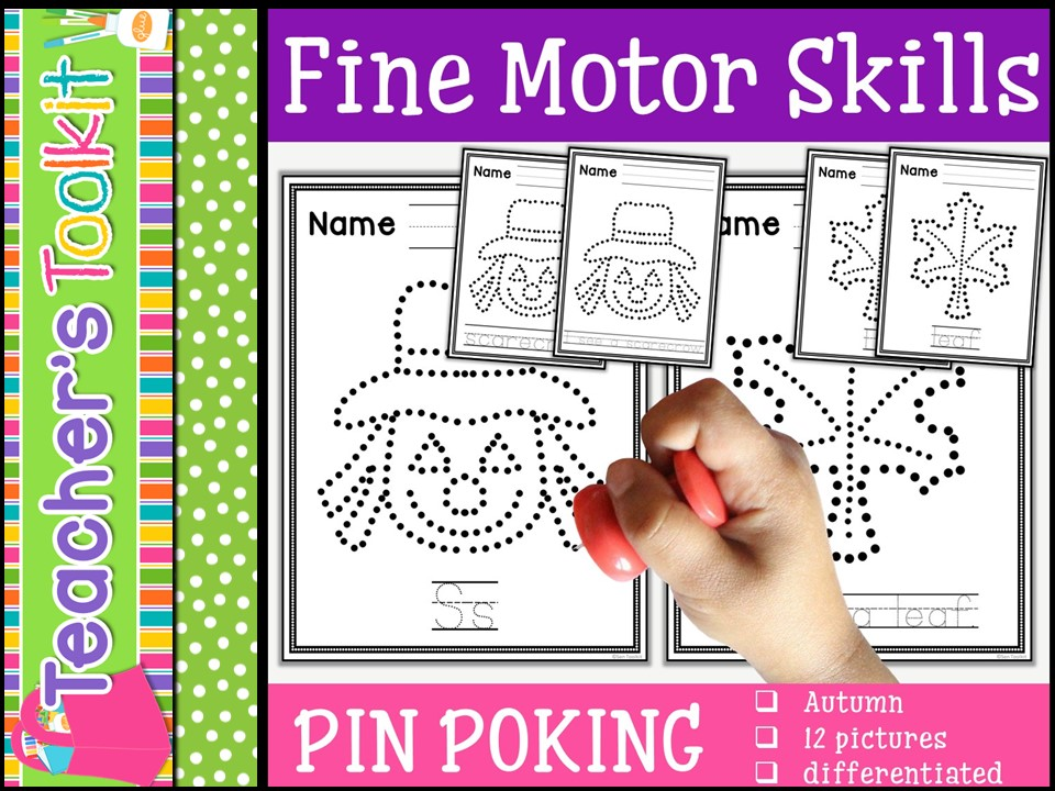 Motor Skills: Pin Poking Autumn