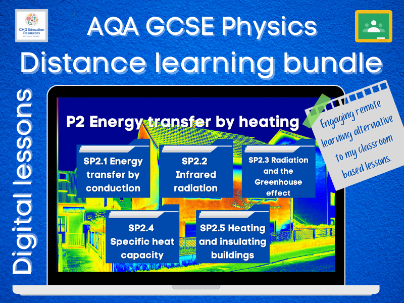P2 Energy transfer by heating: Distance learning bundle (AQA 9-1 GCSE Physics)