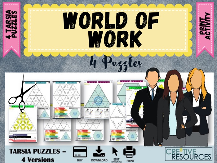 World of work Careers Puzzles
