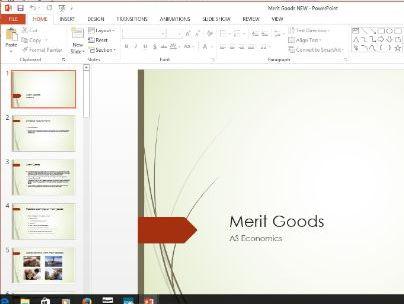 Economics - Merit goods