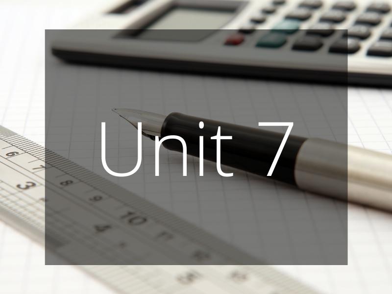 Unit 7 - Personalised Learning Checklist (PLC) - GCSE Edexcel Maths (Higher)