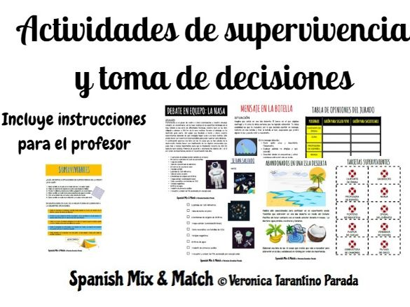 Decision making and survival games for Spanish class (communicative)