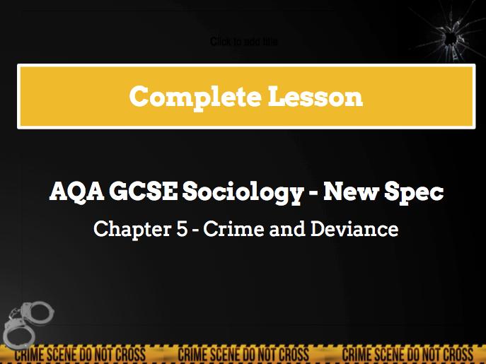 Lesson 16 - Ethnicity and crime