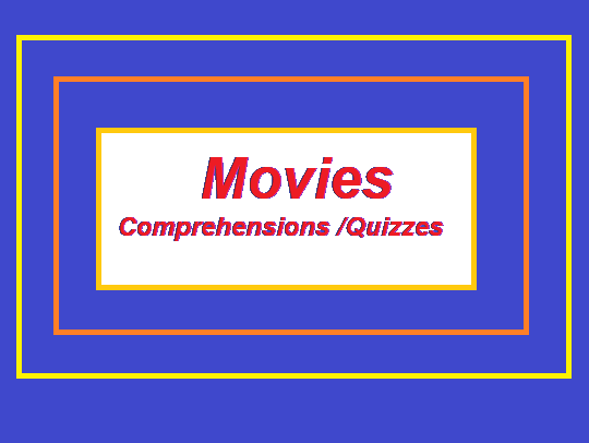 12 Movies comprehensions / quizzes bundle