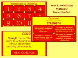 GCSE Resistant Materials Properties Quiz