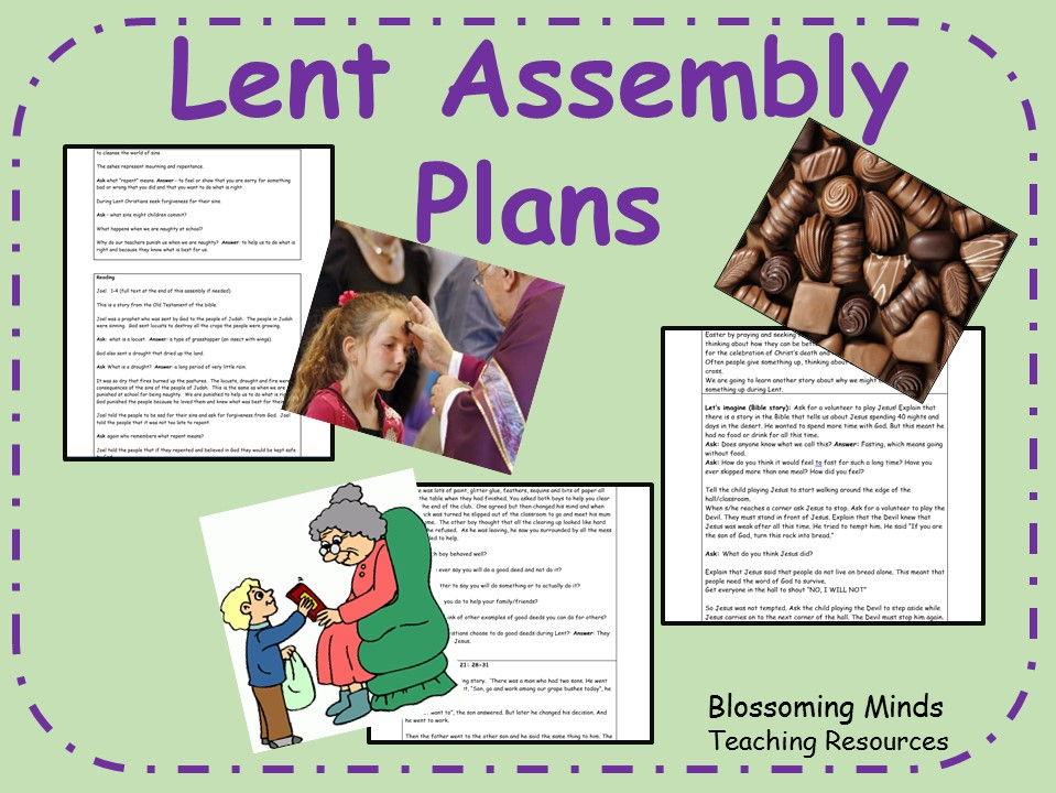Lent Assembly Plans