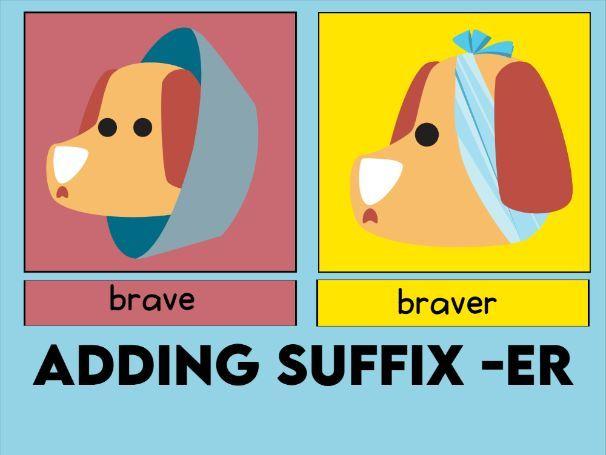 Adding the Suffix -ER