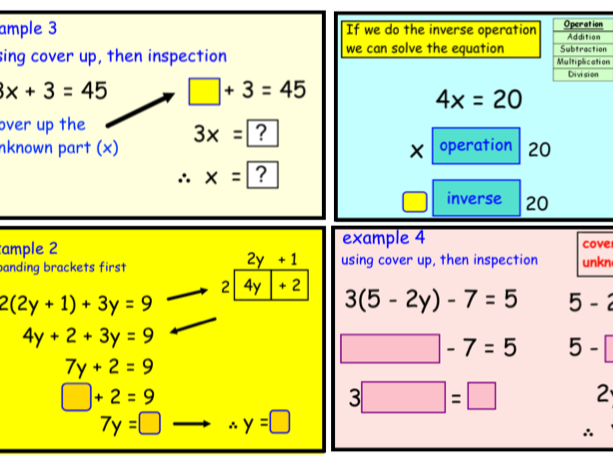 Solving Equations Using Different Methods (pptx)