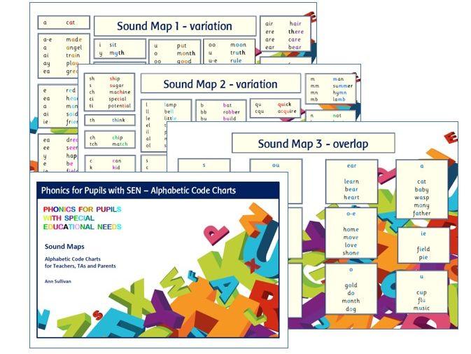 Sounds Maps - Alphabetic Code Charts - Phonics for SEN
