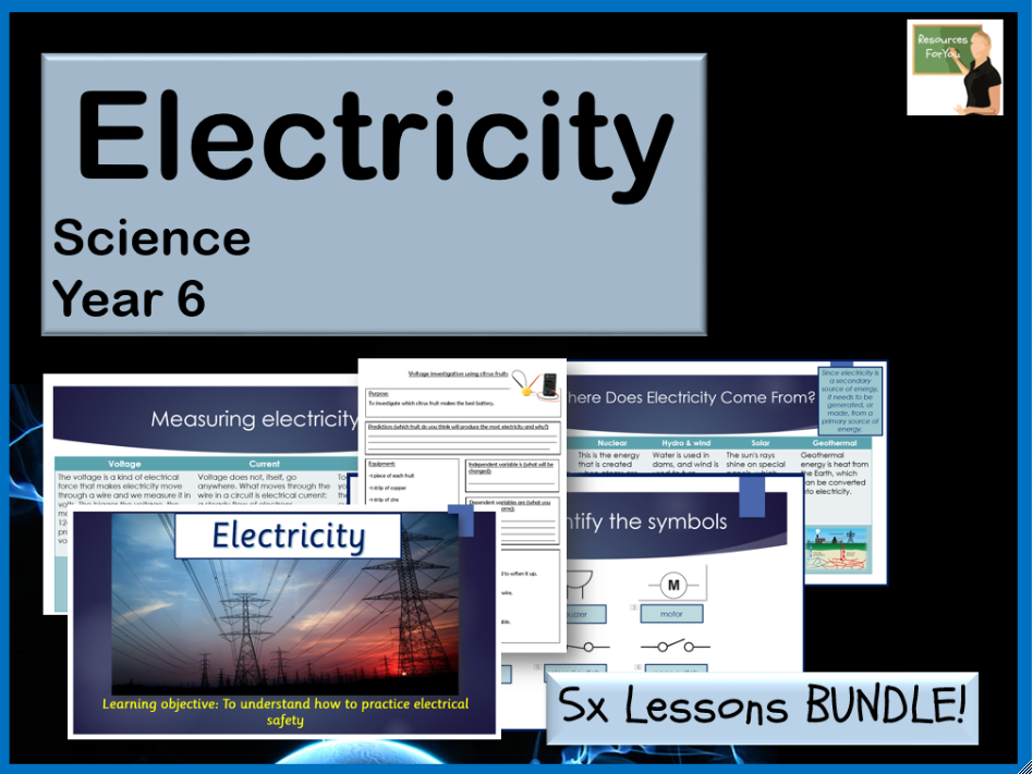 Science- Electricity Year 6 BUNDLE
