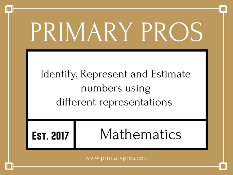Identify, Represent and Estimate  numbers using  different representations
