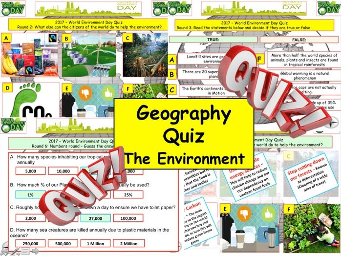 Geography Quiz 2018