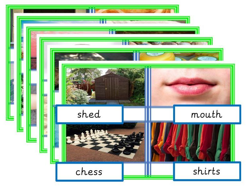 Photo Match Consonant Digraphs (ch sh th wh and qu)