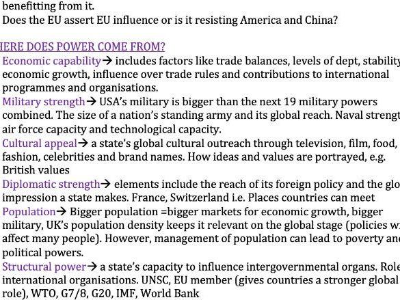 Power - Edexcel Politics A-Level 9PL0