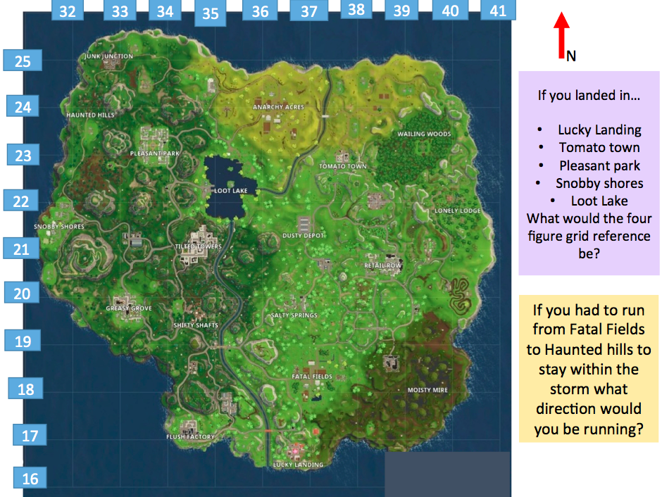image about Printable Fortnite Map called Fortnite Map by means of nonbedford Instruction Components