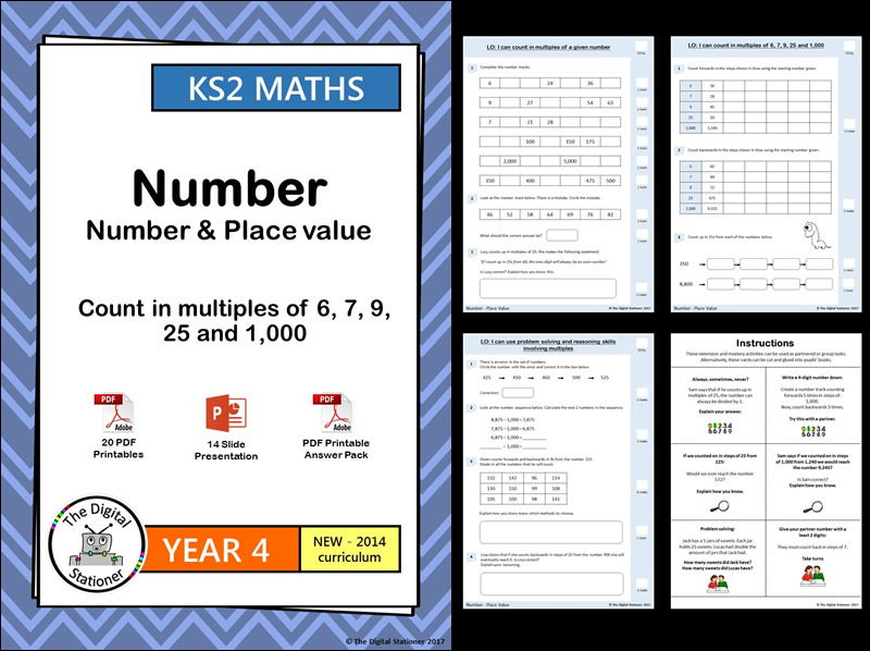 Year 4 – Count in multiples of 6, 7, 9, 25 and 1,000 – Place Value week 1-4 - White Rose (MASTERY)