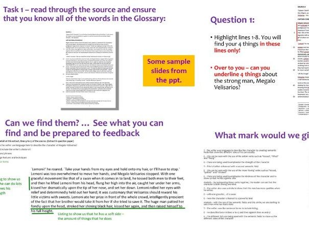 Revision Booster Session - AQA GCSE Language - How to tackle to reading section paper 1