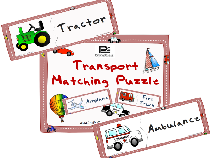 Transportation Matching Puzzle Game