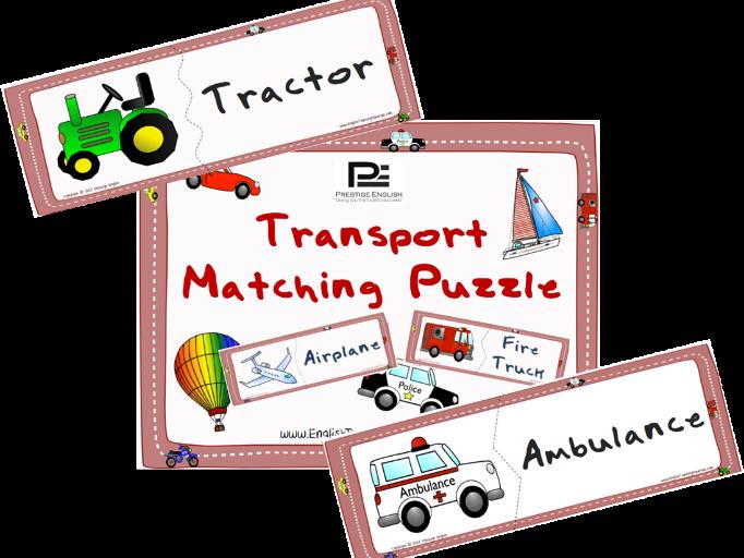 Transportation Matching Puzzle Game