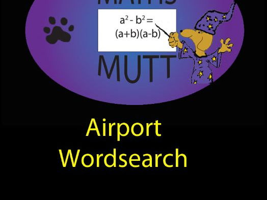 Pooch Puzzles: Airport Word Search